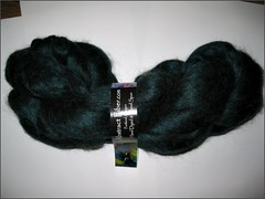 Black N Teal alpaca-silk top