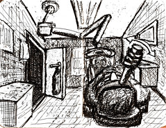 In the Dentist's Chair (With Cruel Contraption) -- B&W (4 of 4) #draw365