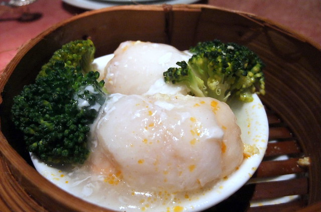 Steam Sea Bass with Brocolli