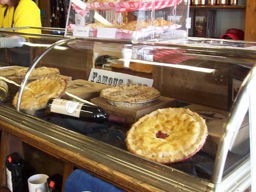Antique pie case - new pies