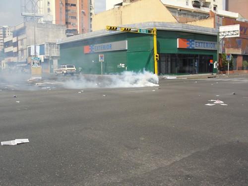 Gas del bueno contra los trabajadores en Maracay, 12 de marzo