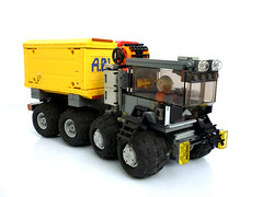 Heavy Utility Vehicle (Pierre E Fieschi) Tags: truck lego space utility vehicle minifig heavy load containers fieschi conatiner landcraft pierree