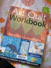 Art Quilt Workbork by Jane Davila and Elin Waterston borrowed from the library
