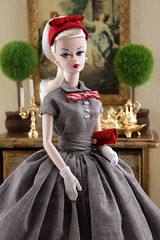 CC Debut to tea 2[Explored] (think_pink1265) Tags: barbie silkstone dolldiorama boguesvogues ccdebut