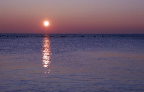 ムジャに沈む夕陽