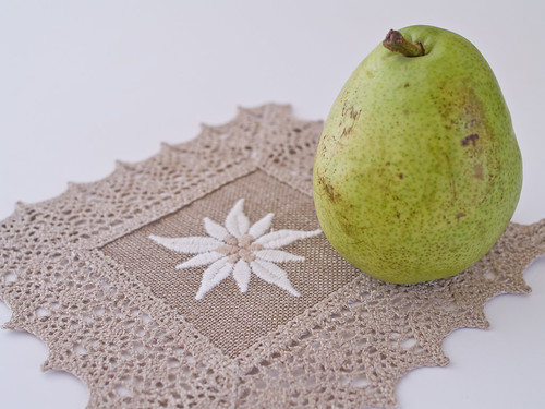 Pear and Doily