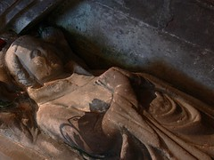 Mid C14 effigy of priest