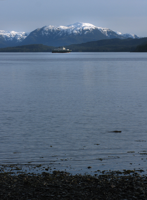 Inter-Island ferry on its way to Hollis, Alaska
