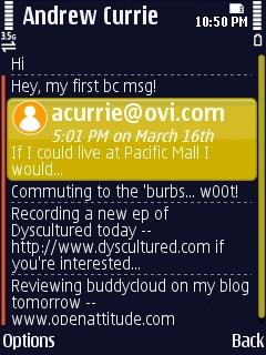 buddycloud Statuses