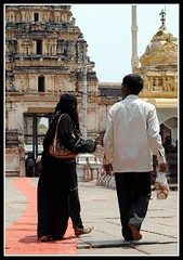 Open to all (AstyReay) Tags: india temple muslim religion hijab niqab hampi