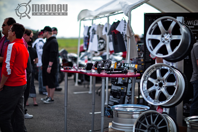 AEM cam gears were proudly on display for the public.