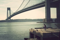 a long time ago this was our future. (solecism) Tags: bridge newyork bicycle forthamilton newyorkbay verrazano utatafeature icanseenewjerseyfromhere