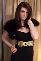 Knocking them cold in black & gold! (saskiacyanide) Tags: boy lady shoe model glamour cross legs young transgender transvestite dresser miss saskia cyanide