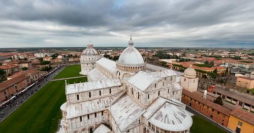YOTOT(MC): Duomo Santa Maria seen from the Leaning Tower of Pisa (panorama) (by Yaisog Bonegnasher)