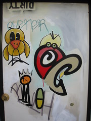 Dirty birds (dschweisguth) Tags: sanfrancisco door mural foundinsf zone