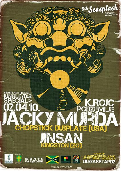 Jungle / DnB Special uz Jacky Murdu monte paradiso seasplash pula