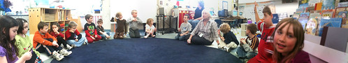 Classroom circle time with Maria Knee