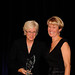 Jill Metz presenting Heidi Dalenberg with the Edwin A. Rothschild Civil Liberties Award