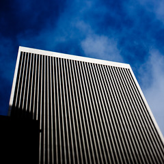 moire, moire, moire (bhautik joshi) Tags: sf sanfrancisco california building march spring downtown highcontrast financialdistrict moire 2010 sfist selectivefocus tiltshift realtiltshift plungercam march2010 plungercammini