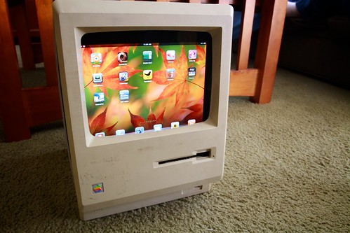 Macintosh Plus iPad stand