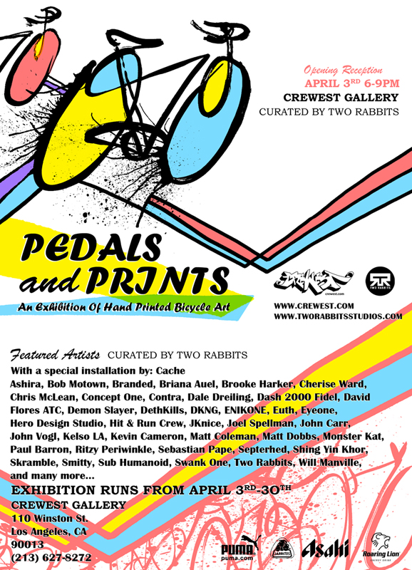 Pedal and Prints Tonight Art Show Los Angeles.