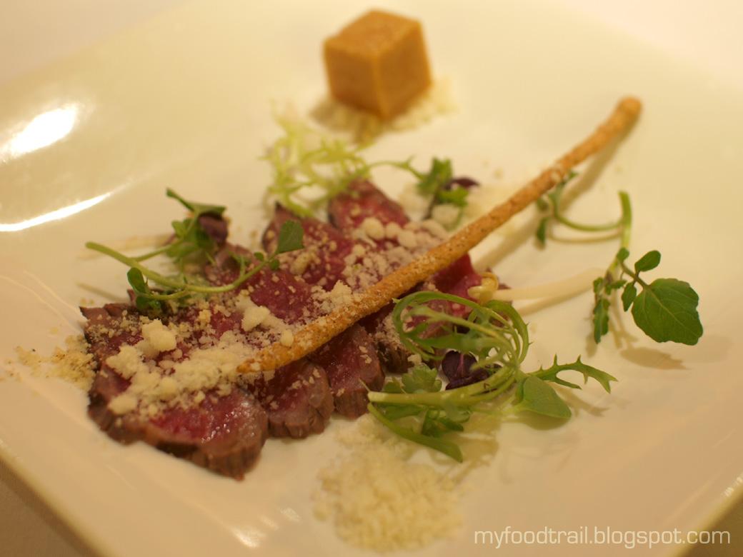 Waqu - Course 3 Beef Tataki Carpaccio