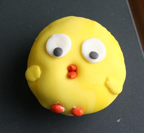 single chick cupcake