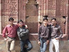 friends at tomb (yogirox) Tags: qutub mionar