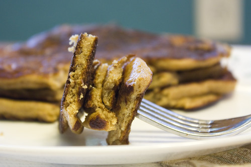 Whole Wheat Pancakes with Agave