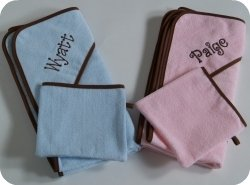 Colored hooded towel