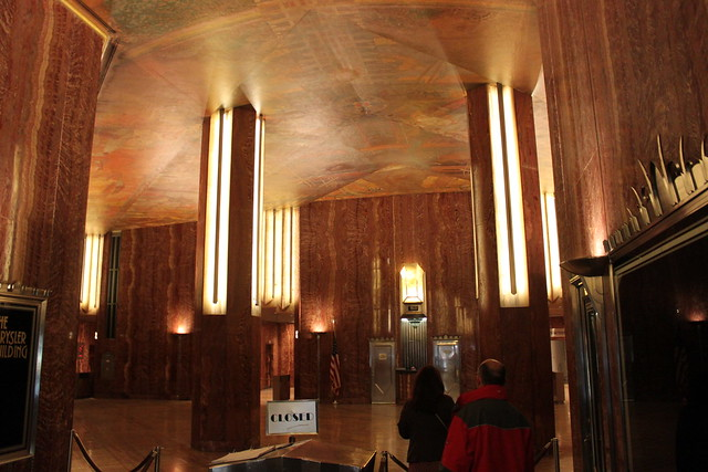 The ground floor interior of the Chrysler Building which the Commission