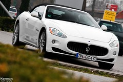 Maserati GranCabrio (Keno Zache) Tags: auto new white beauty car canon germany deutschland eos amazing ride d event 400 bremen rare maserati granturismo keno wagen stuhr tamsen 400d zache eos400d grancabrio