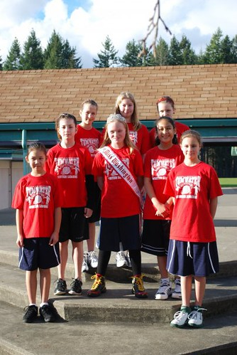 NAM Miss Washington and her Basketball team