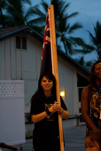 Kat with the NZ Flag