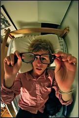102/365 (jkostrand) Tags: above selfportrait rain glasses weird bed nap angle perspective haha bleh creep