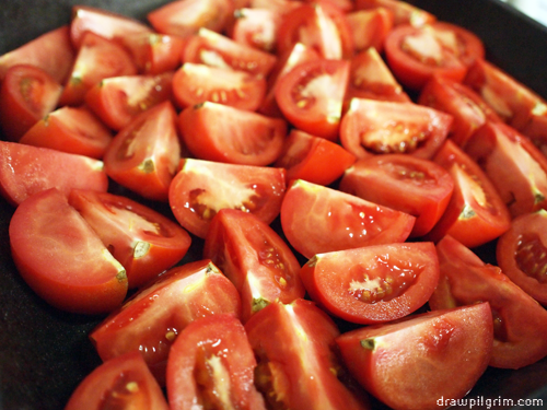 drawpilgrim.com 7by7: tomatoes for roasting