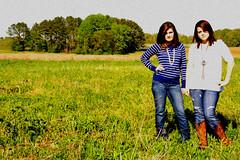 (kelsaroo) Tags: field vintage stripes pasture strong bold cowboyboots