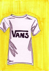 Vans T-Shirt (Homemade Pop) Tags: art artwork artist folkart outsiderart folk originalart contemporary drawings pop popart homemade marker prints prismacolor foodart doodling 5x7 magicmarker foodpackaging pilotpen cheapart retroart brightart originalillustration quirkyart