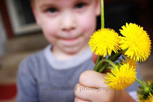 . i got flowers .