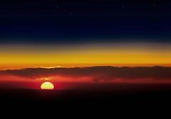 [フリー画像] [自然風景] [雲の風景] [夕日/夕焼け/夕暮れ]        [フリー素材]