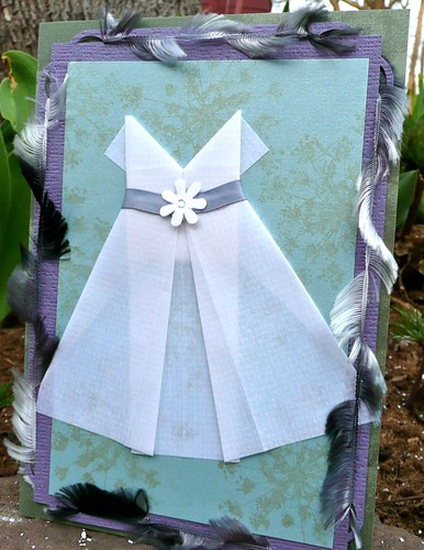 Lift Bridge Cards And Crafts Wedding Cards With Origami Dresses