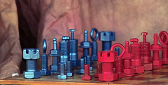 chess (dalinean) Tags: metal handmade chess craft sigma sd10 chessset mettalic
