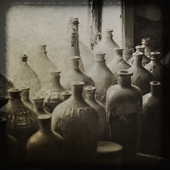clorox bottles (bob merco) Tags: texture sepia photoshop bottles layers clorox cs3 niks wondertower abigfave supermerc81 bobmerco silverefexpro lonesomelizardfilms bobmercogliano cloroxbottles