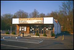 Meadtown Cinema / Agfa Clack Camera (Michael Raso - Film Photography Podcast) Tags: butler clack agfaclack newjerseyusa jerrylewiscinema butlernewjersey michaelrasofilmphotography meadtown kodake100vs120film meadtownshoppingcenter jerrylewistheater