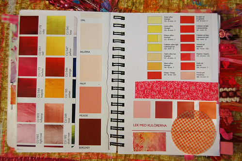 Pink Notebook: paint chips