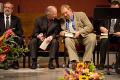 John Piper and Rick Warren at Ralph Winter's Funeral