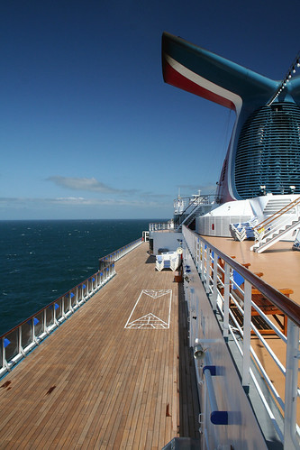 Carnival Spirit - Shuffleboard on Empty Deck