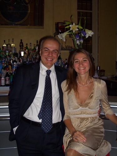 Edoardo Croci con la moglie Marina Vererajme, settembre 2007