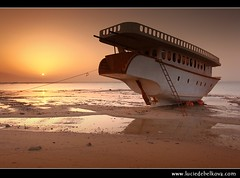 Kuwait - Sunset at Stranded Boat at Doha Port ( Lucie Debelkova / www.luciedebelkova.com) Tags: world trip travel sunset sea vacation orange sun holiday tourism beach water beautiful landscape outdoors photography photo tour gulf place shot image muslim scenic middleeast visit location tourist arabic arab journey shore arabia destination kuwait traveling visiting exploration landschaft emirate touring gcc kuwaiti middleeastern waterscape deepcolor arabistan arabcountries stateofkuwait arabianpeninsula arabcountry arabstates luciedebelkova dohaport  wwwluciedebelkovacom lpboats