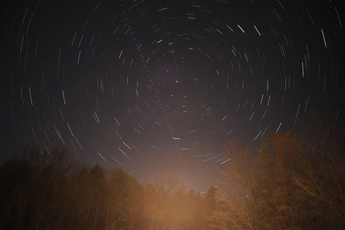Star Trails on the Tomhannock Reservoir, Troy NY
